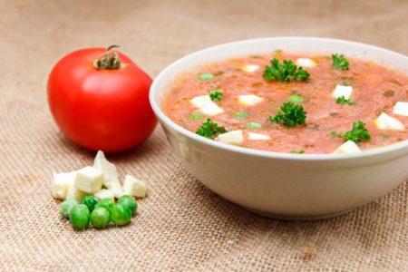 Суп «Матар панир»