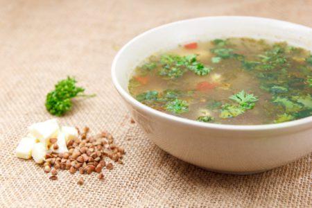 Суп гречневый с сыром
